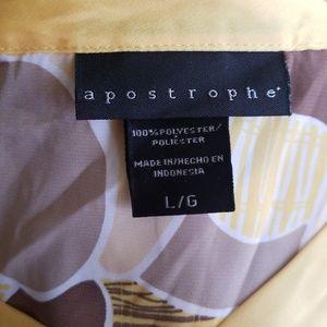 Apostrophe Tops - APOSTROPHE PATTERN YELLOW TOP💥